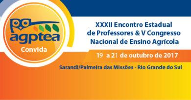 XXXII Encontro Estadual de Professores & V Congresso Nacional de Ensino Agrícola