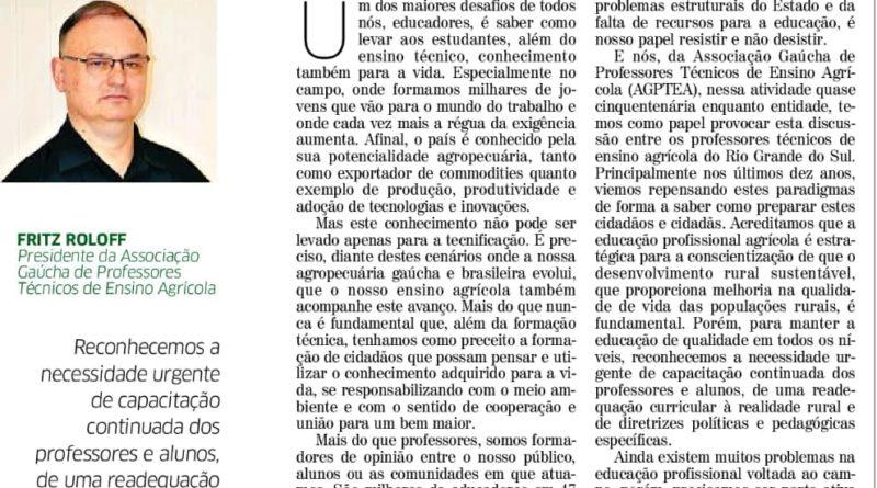 Agptea no Correio do Povo e Jornal O Sul