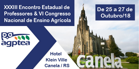 XXXIII Encontro Estadual de  Professores & VI Congresso Nacional de Ensino Agrícola